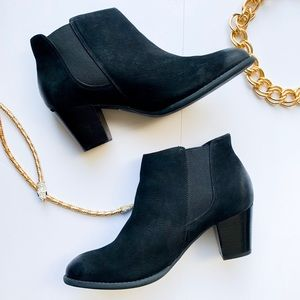 NEW! Vionic Black Suede Ankle Booties Size 9.5